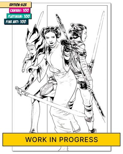 STAR WARS: AHSOKA, LEIA & REY